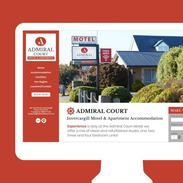 Admiral Court Accommodation Queenstown Web Design
