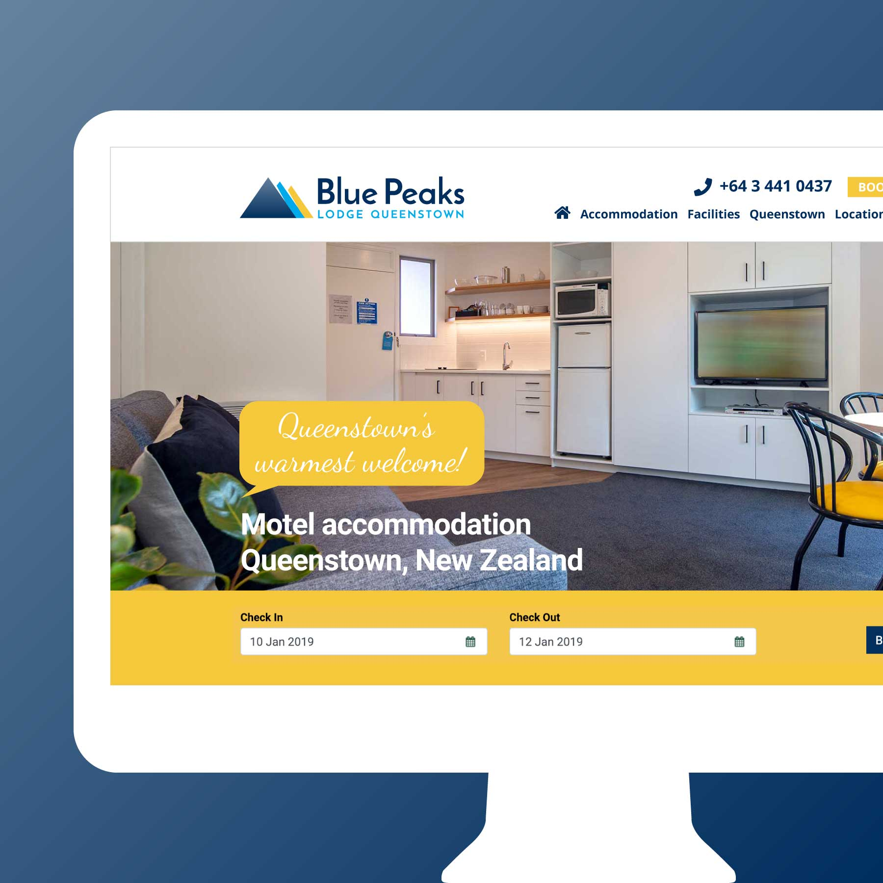 Blue Peaks Lodge & Apartments Queenstown Web Design