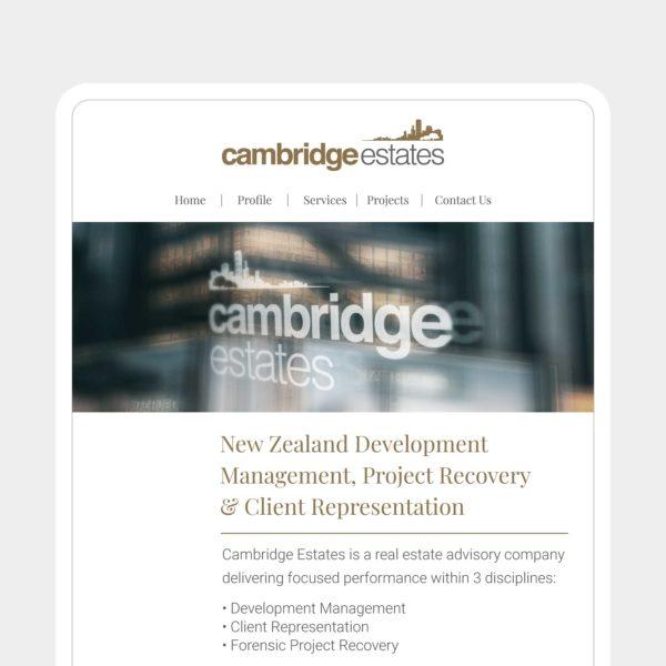 Cambridge Estates Queenstown Web Design