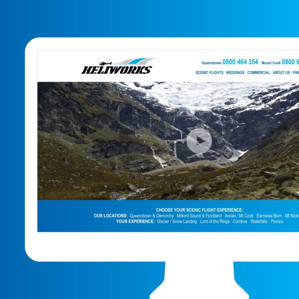Heliworks Helicopters Scenic Flights Queenstown Web Design