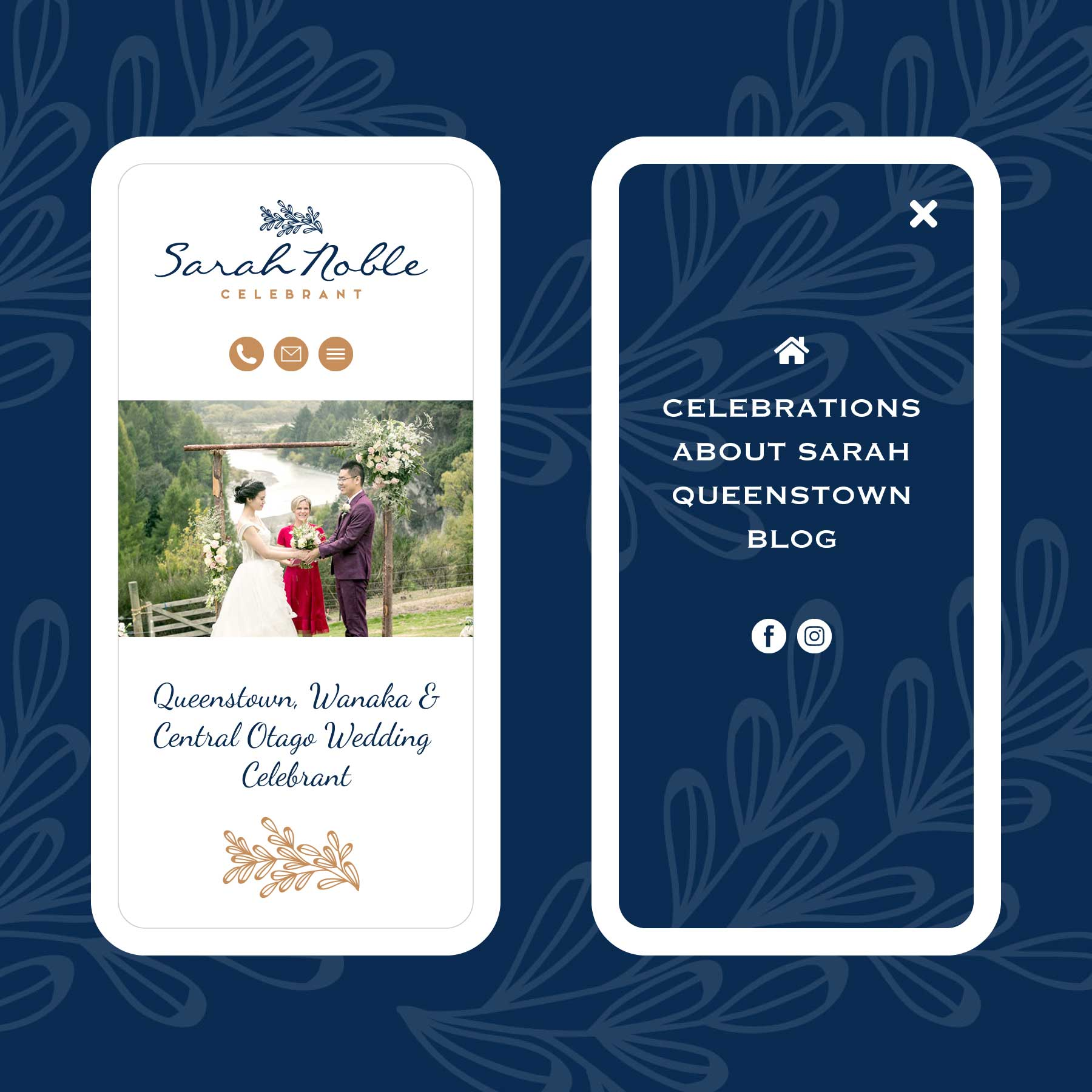 Sarah Noble Marriage Celebrant Queenstown Web Design