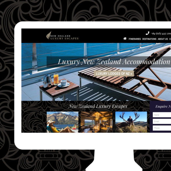 NZ Luxury Escapes Queenstown Web Design
